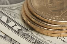 Free Abstract U.S. Dollar Coins & Bills Stock Photo - 5034210