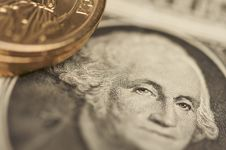 Free Abstract U.S. Dollar Coins & Bills Stock Photography - 5034282