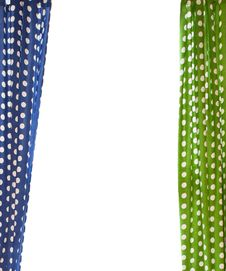 Two Curtains Royalty Free Stock Photography