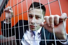 Free Aggressive Young Businessman Man Stock Photography - 5034762