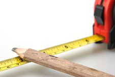 Free Pencil And Tape Measure Stock Image - 5034811