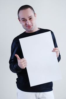 Free Man With Placard Stock Photos - 5035393