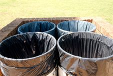 Free Trash Cans Royalty Free Stock Photo - 5036195