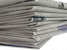 Free Newspaper Royalty Free Stock Photography - 5036617