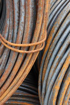 Rusty Steel Coils 1 Royalty Free Stock Image