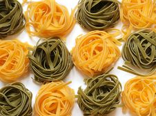 Colorful Tagliatelle Stock Photography