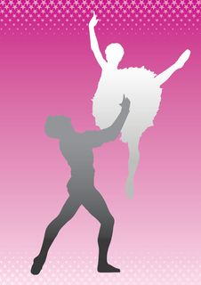 Free Silhouette Dancers () Stock Image - 5037801