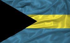 Free Bahamas Flag 3 Royalty Free Stock Photos - 5038208