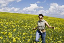 Free Young Girl In Summer Field Stock Images - 5038624
