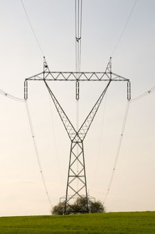Electricity Pylon With Cables Stock Images