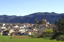 Small Town In The Pyrenees Royalty Free Stock Image