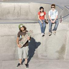 Free Triumphant Skateboarder Royalty Free Stock Image - 5039246