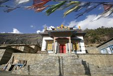 Free Monastery In Upper Pisang, Annapurna Royalty Free Stock Image - 5039536