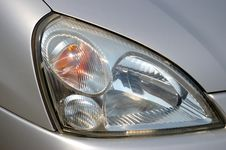 Free The Headlight Of The Car. Stock Photos - 5039663