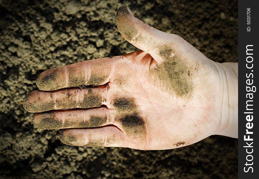 Dirty hand.