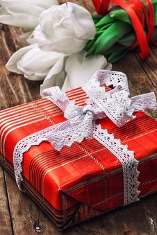 Free Gifts For The Holiday Stock Photo - 50339040