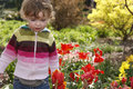 Free Child In The Garden Royalty Free Stock Photography - 5049067