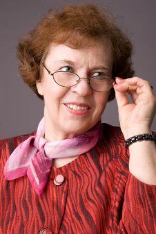 Free The Pleasant Elderly Woman. Stock Photo - 5040390