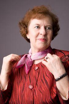 Free The Pleasant Elderly Woman. Stock Photos - 5040393