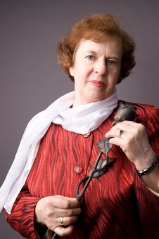 Free The Pleasant Elderly Woman. Royalty Free Stock Photography - 5040397