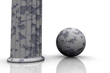 Free Pillar And Ball Royalty Free Stock Photography - 5040727