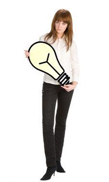 Free Holding Light Bulb Stock Photos - 5041093