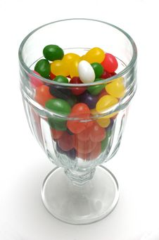 Free Jelly Beans In Glass Sundae Cu Stock Photo - 5041250