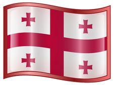 Free Georgia Flag Icon Royalty Free Stock Photography - 5041347