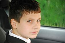 Travelling By Car To School Stock Image