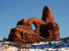 Free Red Rock Windows Arch Stock Photography - 5041872