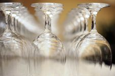Free Close Up. Bar Glasses. Royalty Free Stock Images - 5041919
