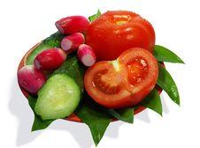 Free Cucumbers, Tomatoes And Radish Stock Image - 5042321