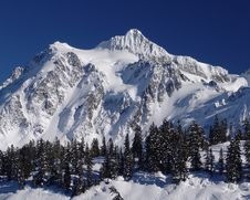 Free Mt Shuksan With Deep Blue Sky. Stock Photos - 5042623