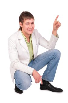 Free Young Man Gives Gesture Royalty Free Stock Photography - 5042707