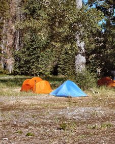 Free Camping Tents Royalty Free Stock Photo - 5042875