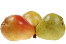 Free Three Colorful Pears Stock Photo - 5043710