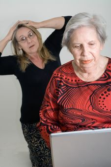 Mother And Grandmother Stock Photography