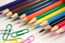 Free Color Pencils Royalty Free Stock Photos - 5044028