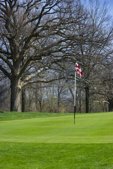 Golf Flag Stock Photography