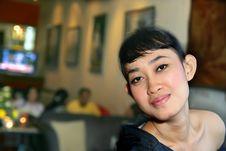 Free Girl At Bar Stock Image - 5044431