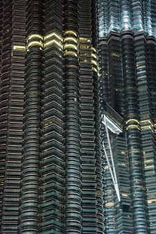 Free Petronas Twin Towers In The Night Stock Photos - 5045593