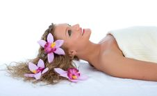 Free Attractive Woman Getting Spa Treatment Royalty Free Stock Photo - 5045735