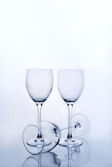 Free Three Empty Wine Glasses Stock Photos - 5046743