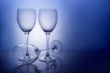 Free Three Empty Wine Glasses Stock Photography - 5046752