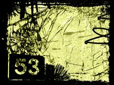 Free Grungy Number 53 - Digital Illustration Stock Photography - 5047092