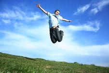 Free Jumping Happy Boy Royalty Free Stock Photo - 5047165