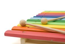 Free Toy Colorful Xylophone, Isolated, With Clipping Pa Stock Photography - 5047222
