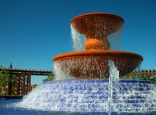 Free Fountain With Arbor-Close Stock Photography - 5047722