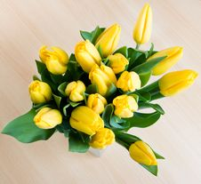 Free Bouquet Of Yellow Tulips Stock Image - 5048031