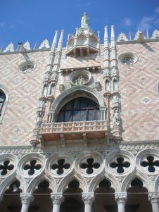 Balcony, Palazzo Ducale Royalty Free Stock Images